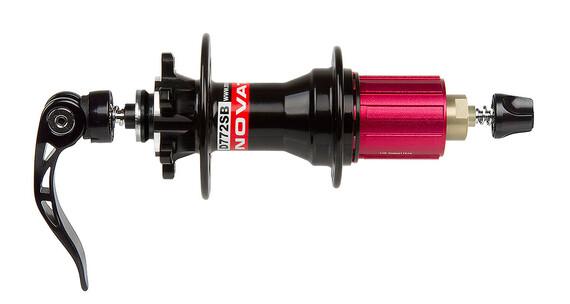 Novatec Superlight naaf 4in1 MTB Disc 8-11-speed rood/zwart